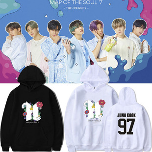 BTS regular fourth series MAP OF THE SOUL 7 surrounding the same sweater men's and women's hoodies ins