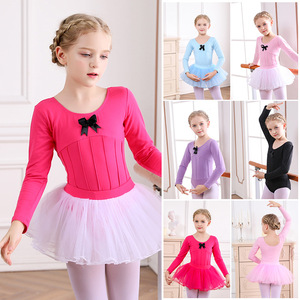 Children's Ballet tutu skirt girls long-sleeved exam practice clothes ballet dancing dresses girls modern dance costumes