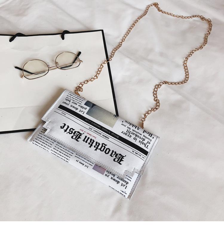 Simple envelope clutch bag wholesale yiwu nihaojewelry new female bag printing fashion chain shoulder messenger bag NHGA210236