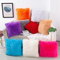 亚马逊新款欧式羊毛抱枕卧室客厅靠垫现代简约纯色靠垫 抱枕定制