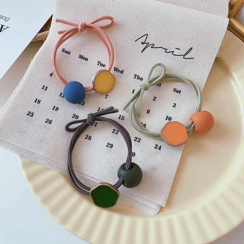 Korea Candy Color Simple Hair Tie Fashion Rubber Band New Girls Hair Accessories NHCQ267358