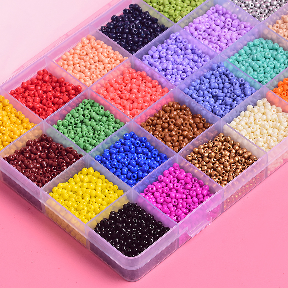 Acrylic beads plastic round beads candy color straight holes loose beads jewelry  wholesale NHSD261978