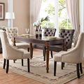 欧式后现代棕色非主流餐桌椅组合简约美式乡村样板房实木家具定制