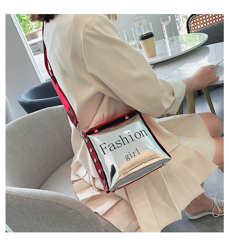 Small square bag women's new Korean personality fashion shoulder messenger bag NHTC202347
