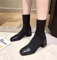 705-2 boots, han edition socks knitting joining together of new fund of 2020 autumn winters is thick with elastic thin boots woman head short boots