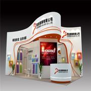 上海会展公司展位设计装修玻璃展108平米木质展台搭建优质供应商