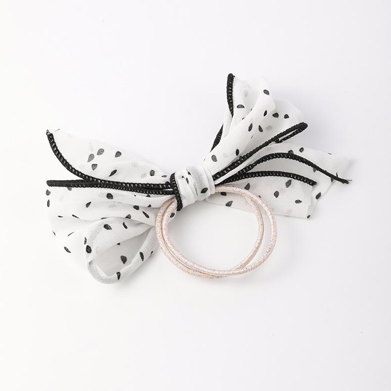 Korean hair scrunchies ball head bow like a rubber band female wave point hair rope head rope  simple temperament hair ring holster NHMS218302