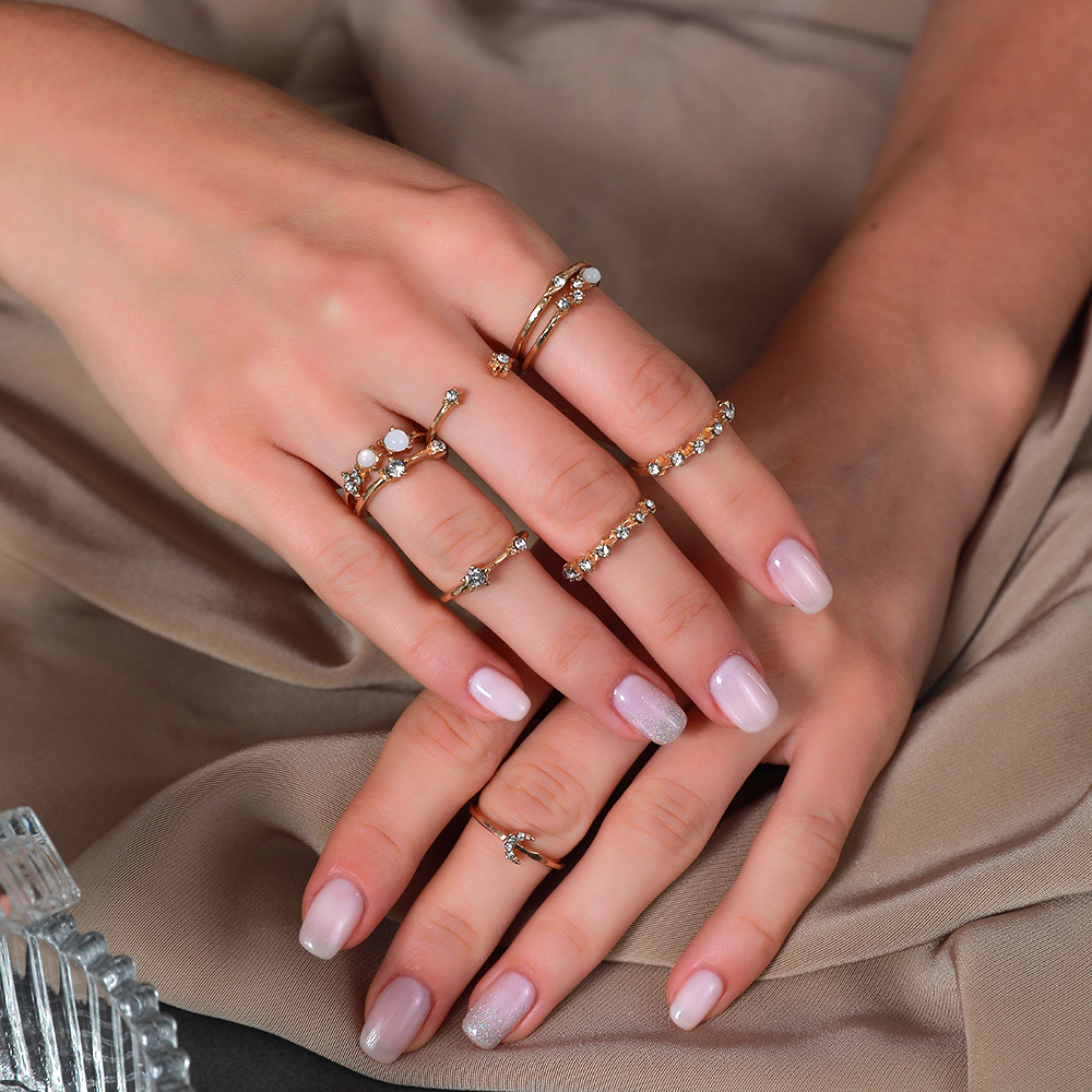 new  star moon index finger creative retro simple alloy ring NHDP268115