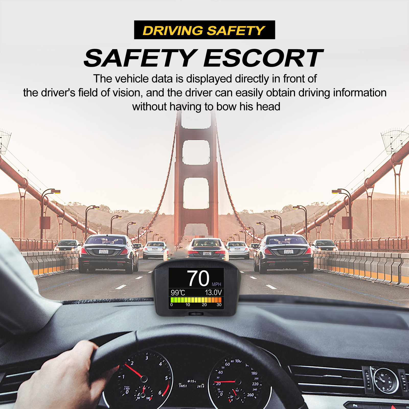 Autool X50 Plus Car Overspeed Alarm with Multi-functional head-up display