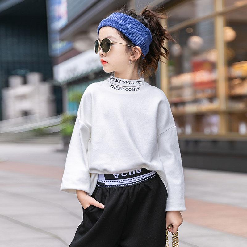 麦可思女大童打底衫长袖2020冬装加厚儿童洋气高领中大童秋冬上衣