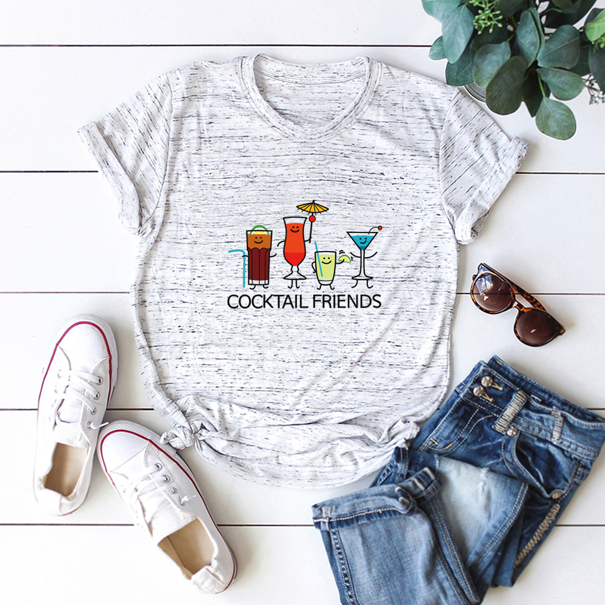 hot Slim Comfortable Casual Large Size Short Sleeve Women's T-shirt NSSN879