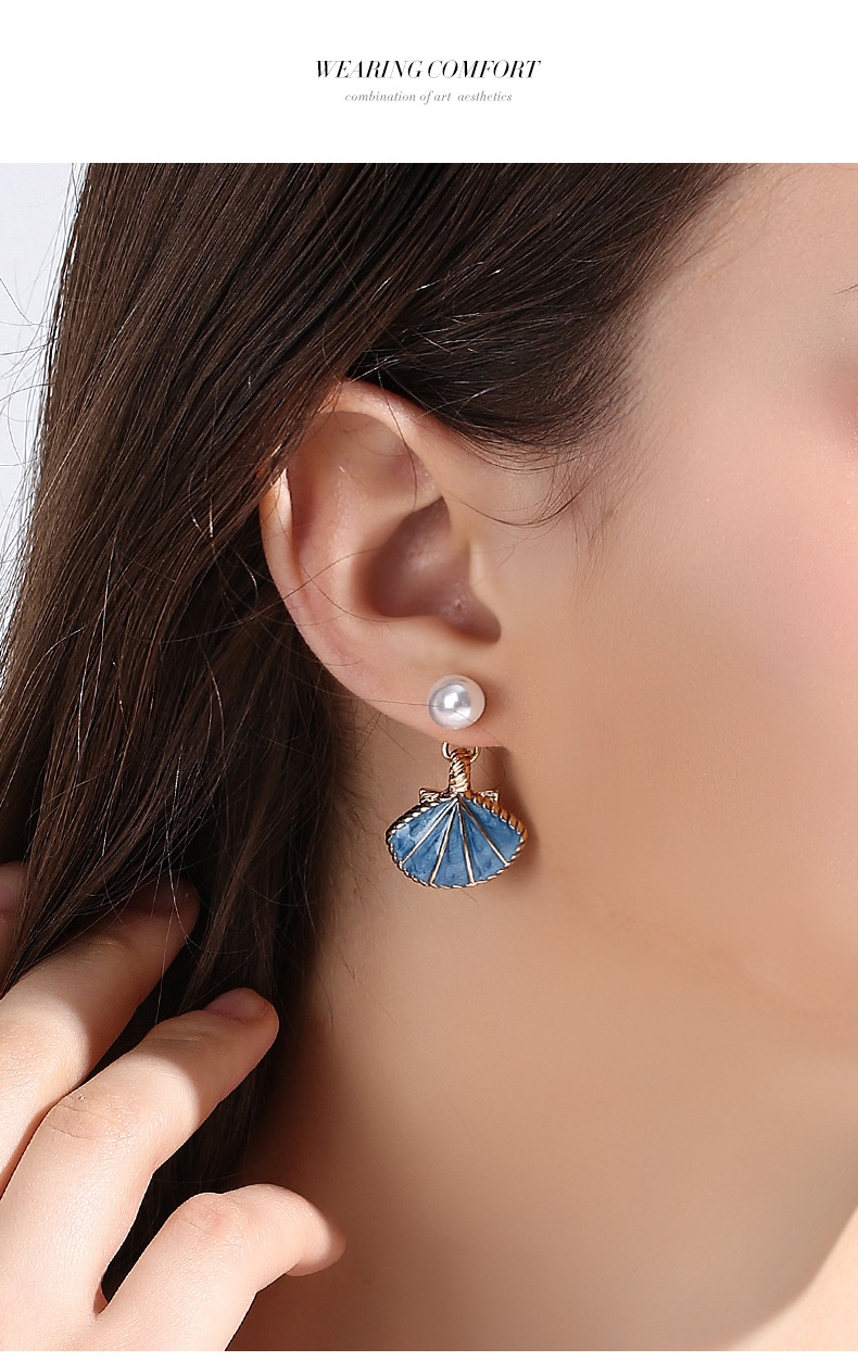 925 Silver Needle Retro Shell Elegant Earrings New Earrings NHPP204652