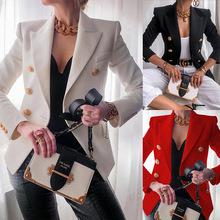 2020欧美跨境亚马逊女装新款纯色时尚休闲西装短外套女FC996