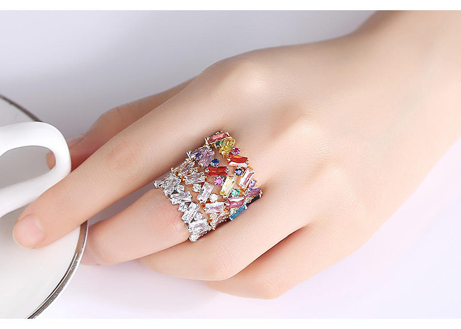 New fashion colorful ladies ring wholesale NHTM205835