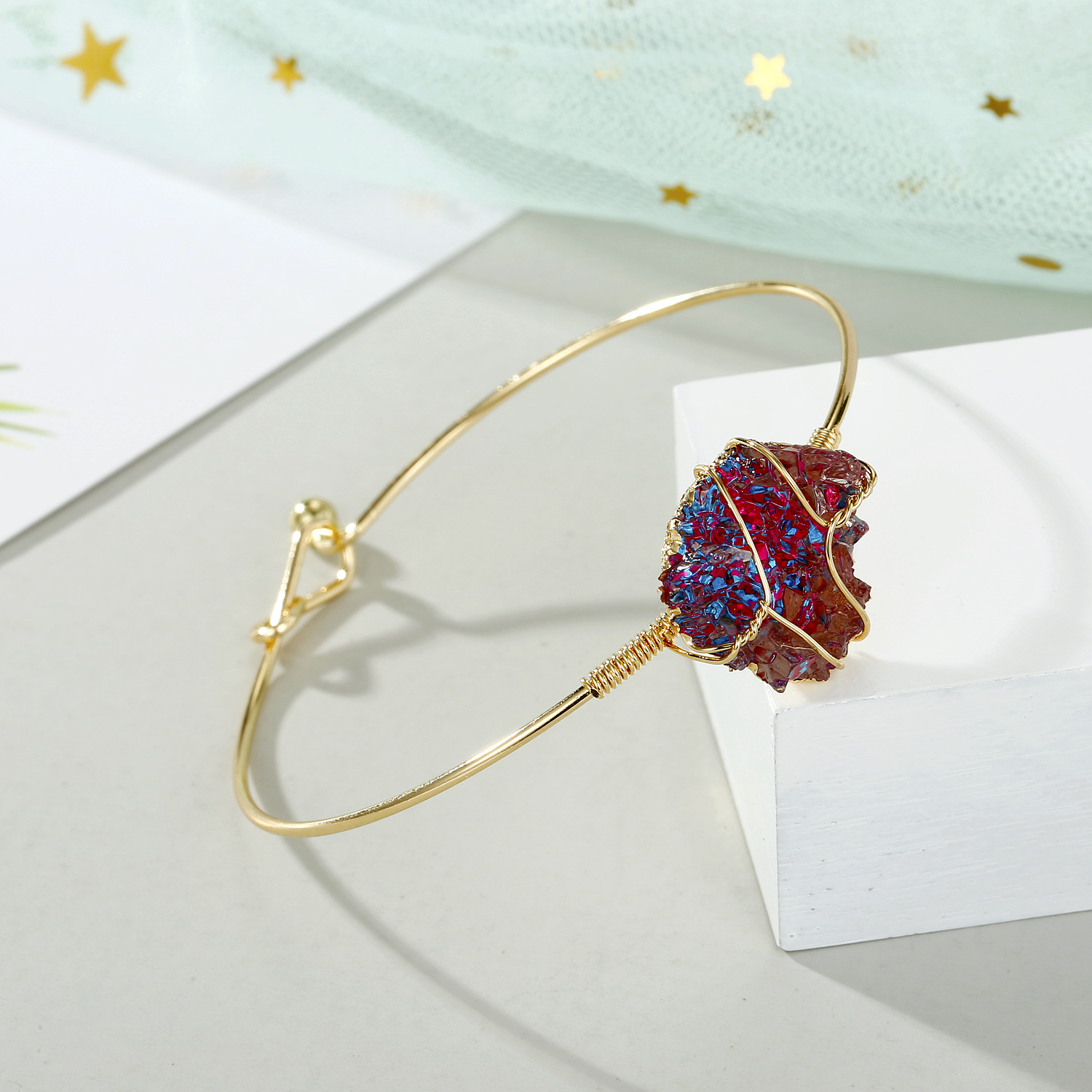 Original hand-wound wire bracelet colorful bracelet imitation natural stone bracelet bracelet wholesale NHGO201055