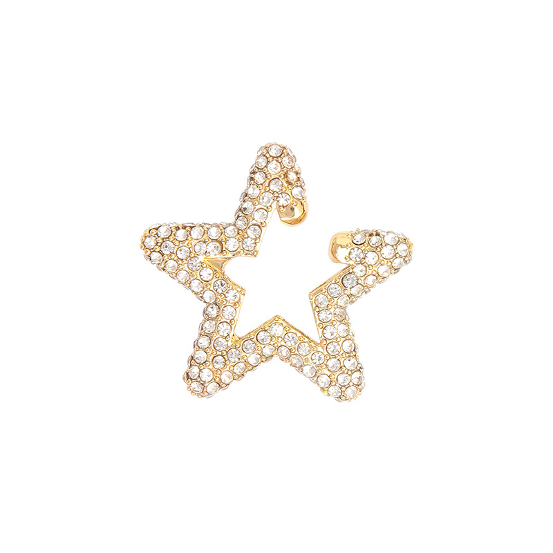 fashion rainbow color rhinestone star stud earrings NHAYN351053