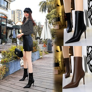 315-12 in Europe and the wind in winter fashion simple thin and sexy high-heeled tines nightclub show female thin thin s