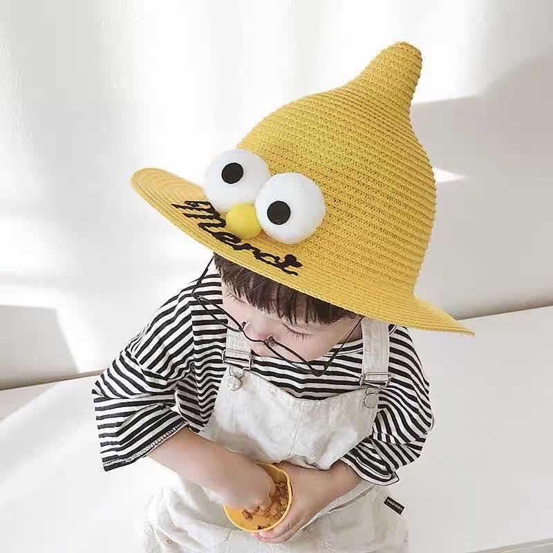 地摊爆款儿童凉帽可爱宝宝帽子夏季小学生薄款遮阳防晒婴幼儿草帽