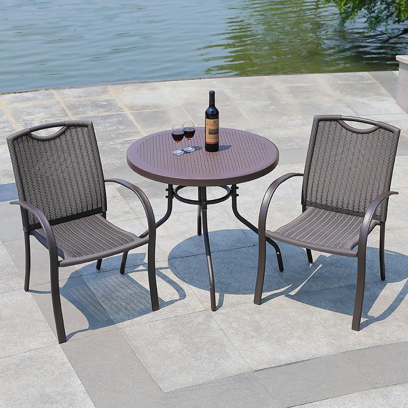户外桌椅休闲用品防水防晒桌椅套装阳台庭院酒吧烧烤摊大排档桌椅