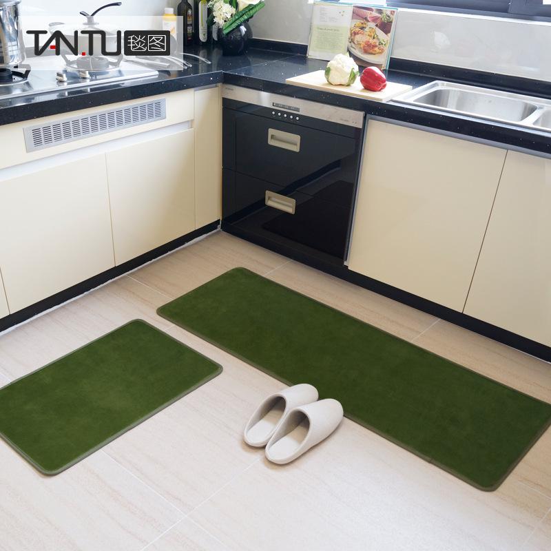 跨境批发家用吸水厨房地垫长条防滑地毯入门浴室 北欧风ins可定制