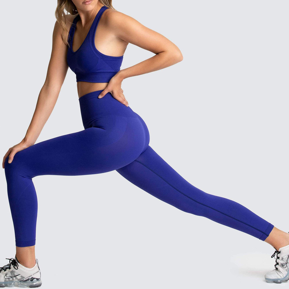 new seamless knitted sports yoga suit  NSNS23587