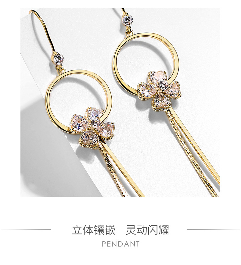 Flower long wild tassel personality sexy earrings wholesales fashion NHPP198700
