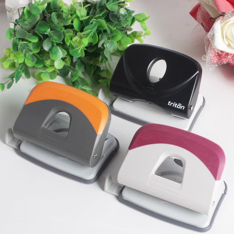 新款办公用品双孔打孔机 一件代发孔距多用皮带笔记本轻便打孔器
