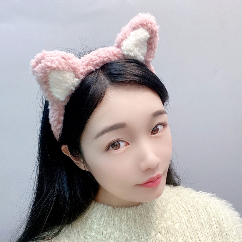 lamb hair cute bear ears plush headband NHFS286653