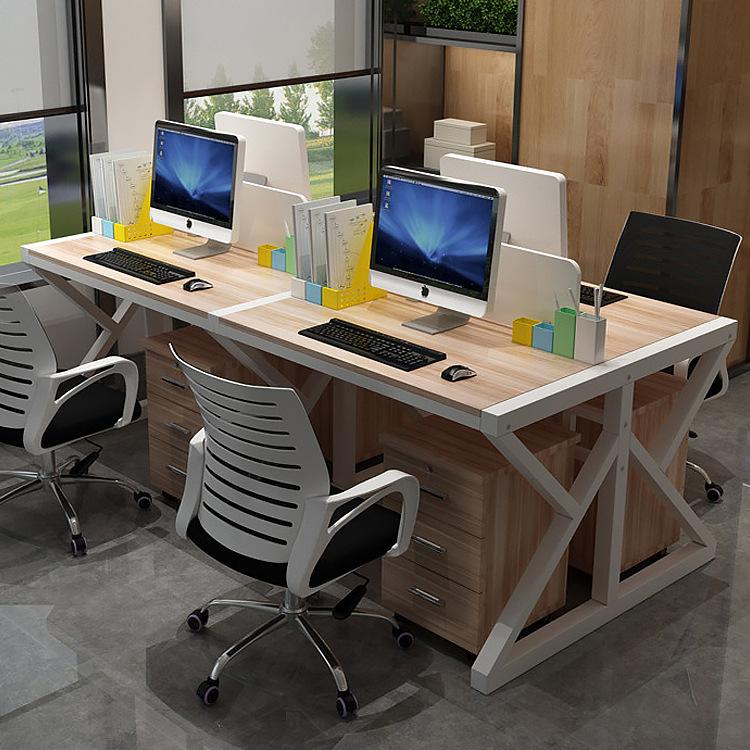 职员办公桌椅组合四人位台式电脑桌椅办公家具屏风办公桌卡位定制
