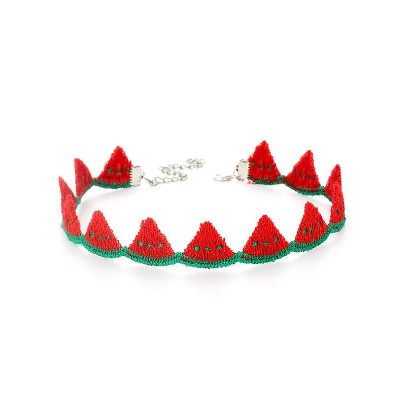 Korea Sweet Fruit Polyester Ethnic Style Pineapple Choker Short Wild Clavicle Chain Necklace NHRN245716