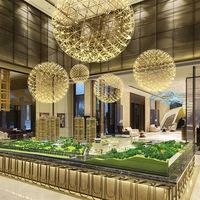 北欧后现代客厅灯具餐厅创意卧室个性吧台楼梯服装店火花球吊灯