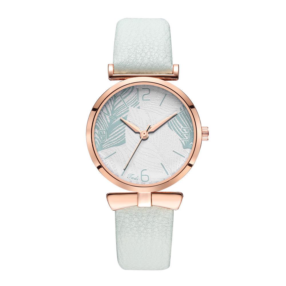 New Fashion Belt Watch Women's Korean Quartz Casual Hand Watch Simple Leaf Pattern Women's Watch Wholesale NHSY196768