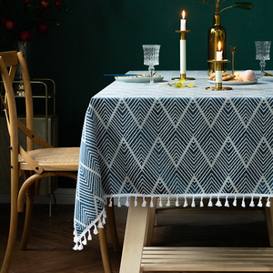 Tablecloth table cloth table cover North European style table tassels American party table cover
