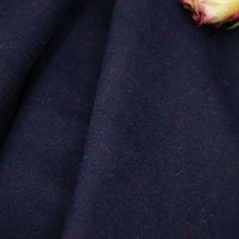 半精紡格子大衣呢布料低調質感格子順毛呢羊毛 高檔服裝面料
