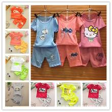 厂家直供1-5元服装批发 新款儿童短袖t恤套装夏季婴幼儿男女童T恤