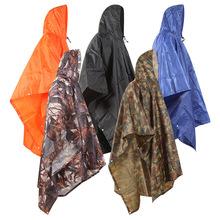 加厚成人骑行雨衣 三合一连体雨披男女通用多功能迷彩斗篷防雨衣