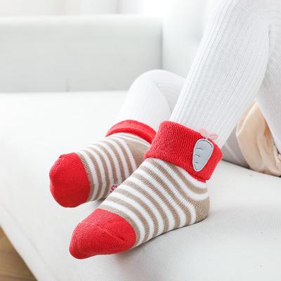 货源2020秋冬新款儿童袜子加厚毛圈保暖宝宝袜子厂家批发新生婴儿袜子批发