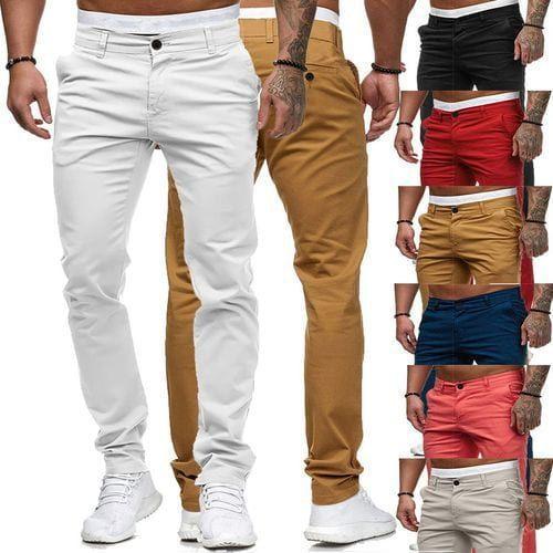 Autumn new casual trousers men's trouser...