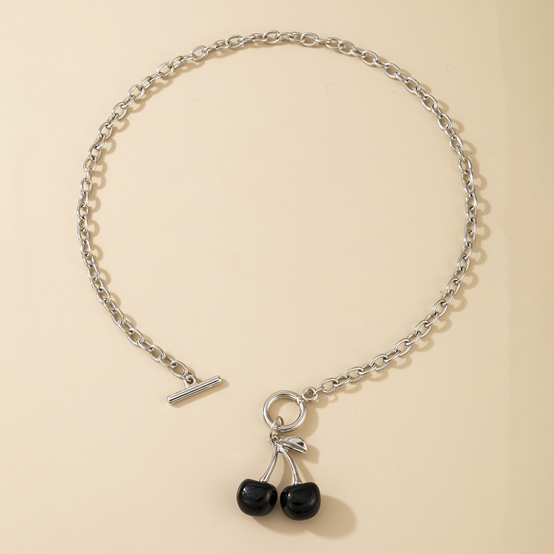 Hot selling fashion black cherry retro popular necklace wholesale NHGY260630