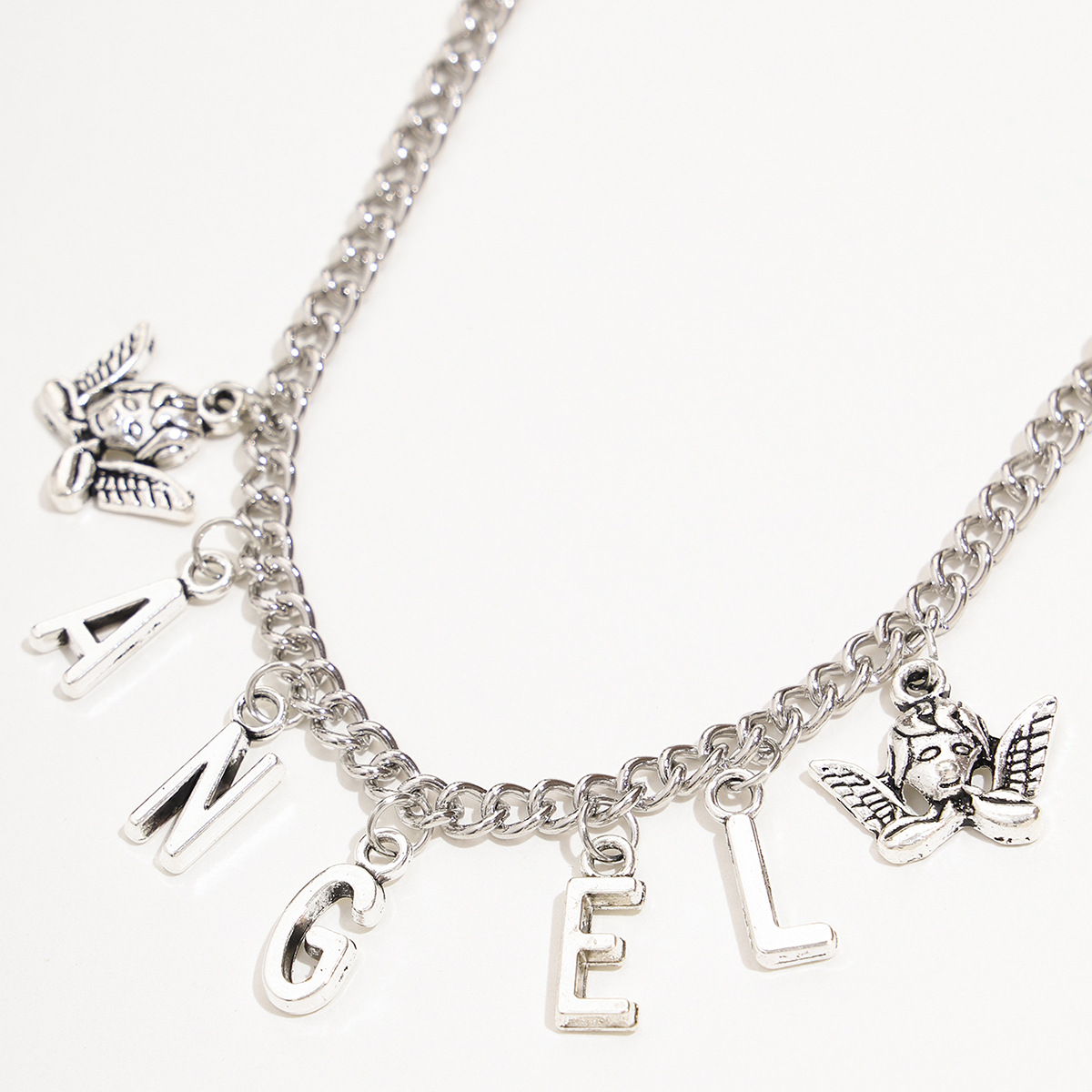 Fashion Retro Vintage Silver Angel Pendant Angel Series alloy Tassel Anklet NHPV249516