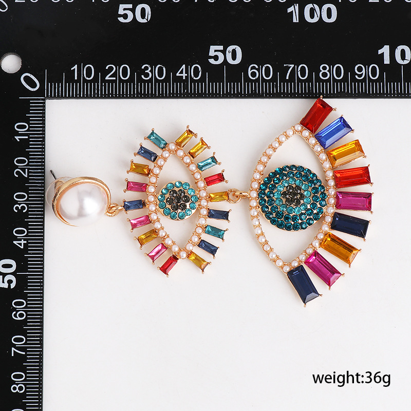 New Angel Eye Earrings Women Korean Earrings Wholesale NHJJ200925