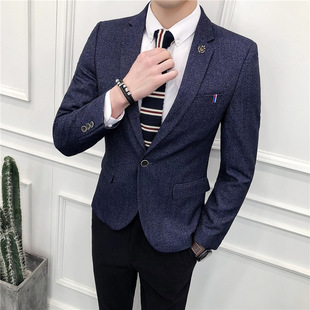 2021 new spring and autumn men's suits Korean youth self-cultivation jacket small suit casual suit men's one generation