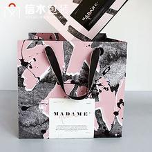 ins创意手提纸袋 白卡纸袋礼品服装手提袋包装手提纸袋 加工定制