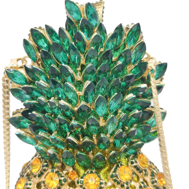 metal diamond-studded pineapple banquet bag NHJU297654