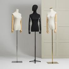 女模特服裝店帶頭人臺道具展示架韓版半身抽象圖案拍照假人體模特