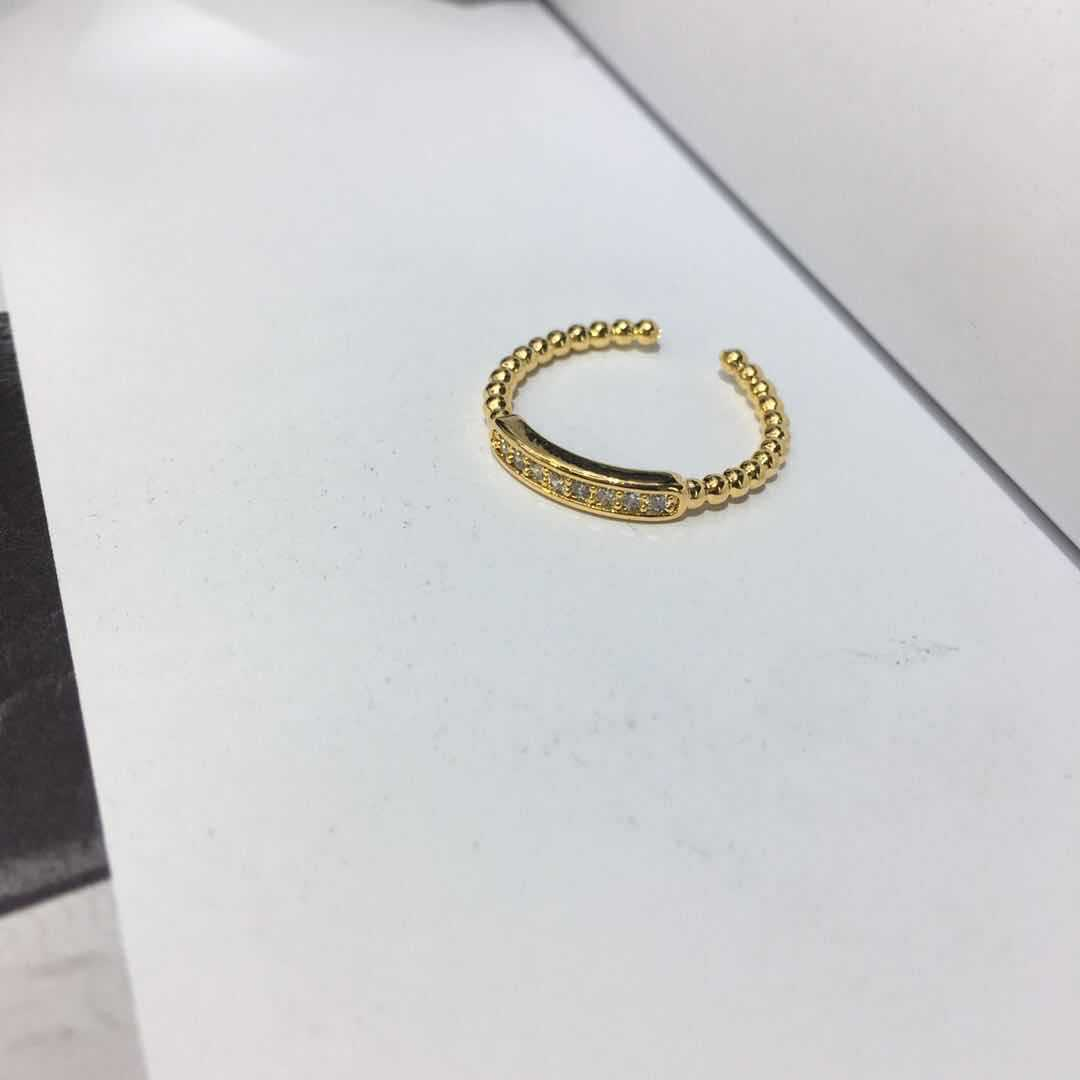 18k round bead ring simple and fashionable open ring wholesale nihaojewelry NHIM239360