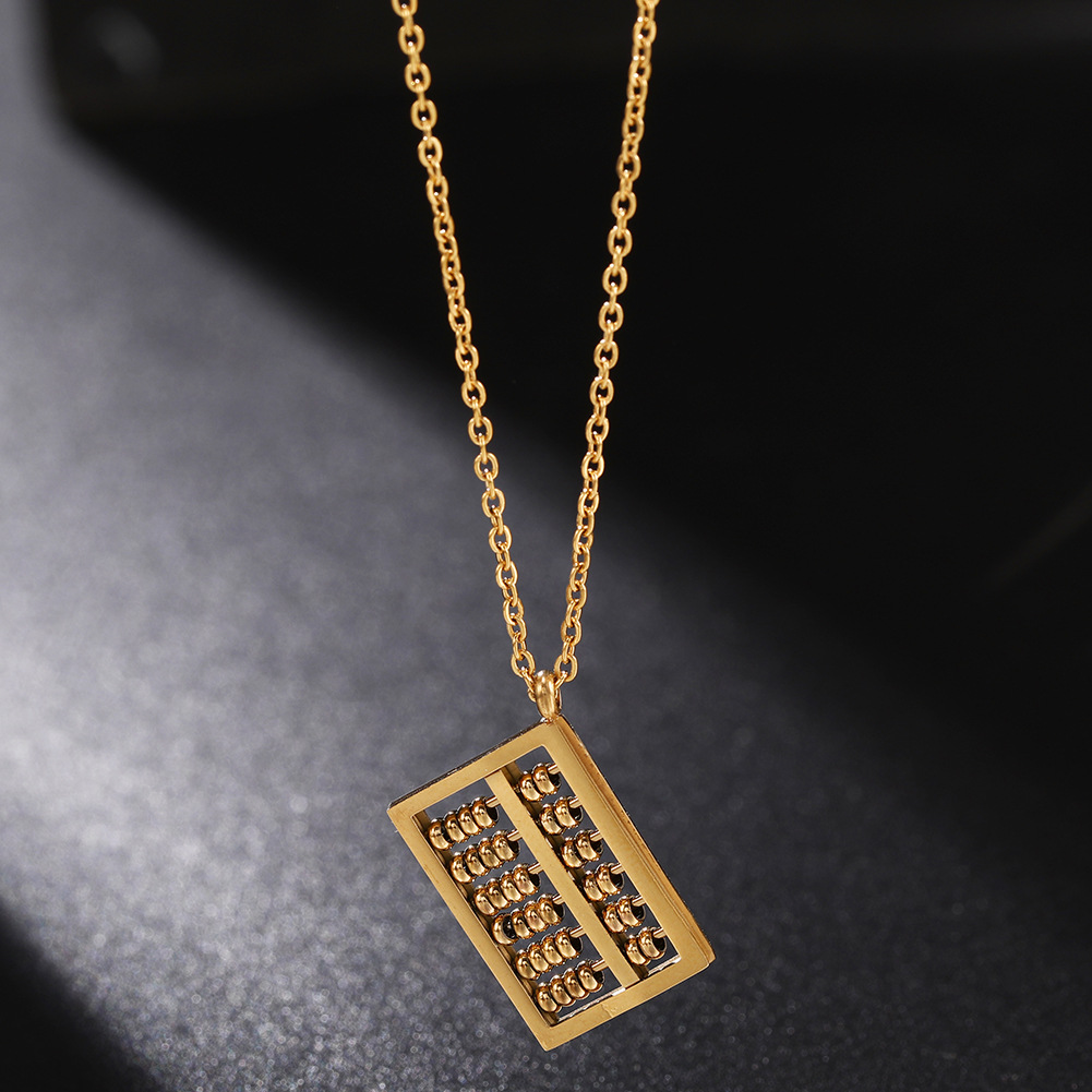 New Fashion Abacus Necklace Stainless Steel Pendant Wholesale NHJJ206732