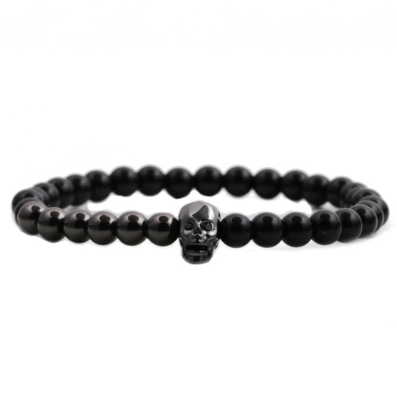 fashion new Skull Demon Eyes Beaded Bracelet NHYL316709