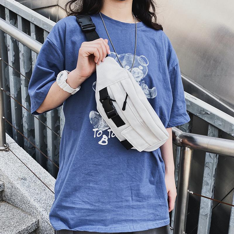 fashion chest bag men's Japanese super fire port style retro canvas crossbody bag student casual shoulder bag  wholesale nihaojewelry NHHX220889