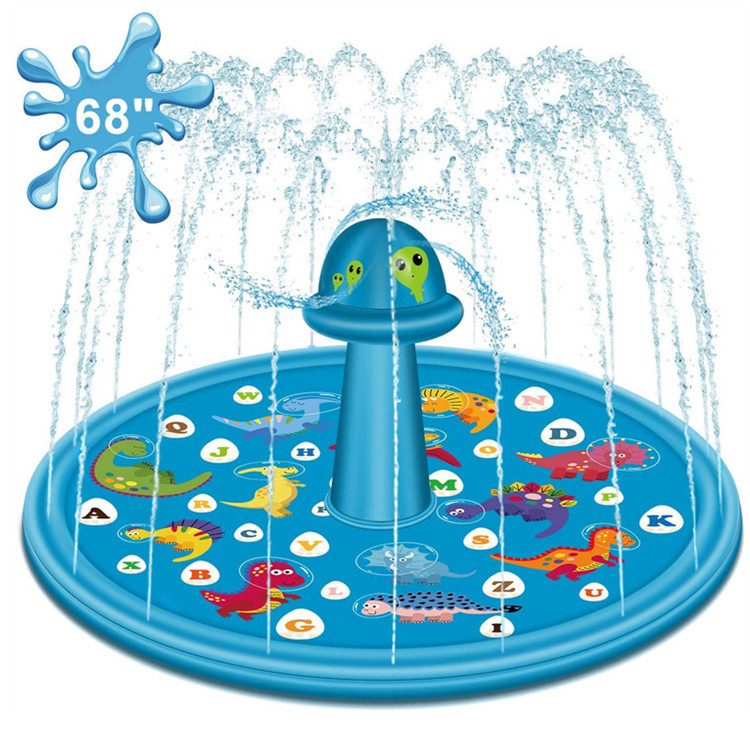 Pvc Children Outdoor Dinosaur Unicorn Lettering Water Spraying Pad